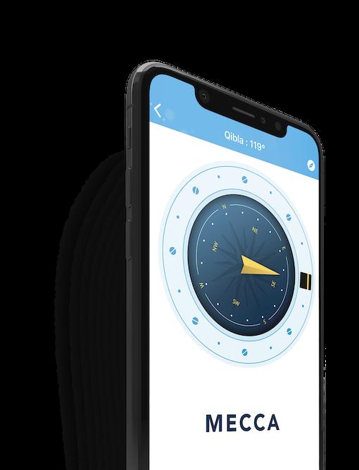 Smartphone boussole dans la poche bleue